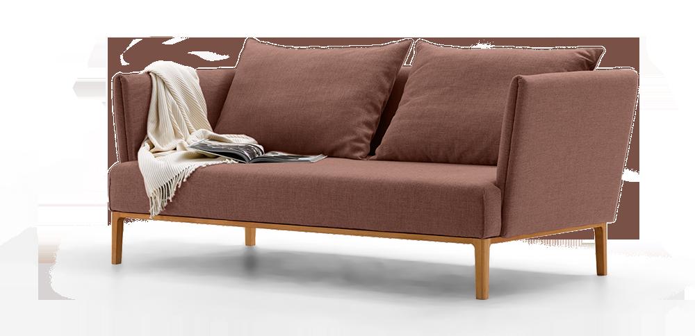 allora 2er sofa gr ne erde. Black Bedroom Furniture Sets. Home Design Ideas