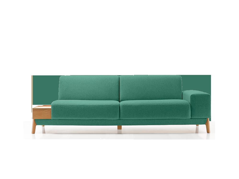 2er sofa alani breite 212 cm gr ne erde for Sofa 70 cm tief