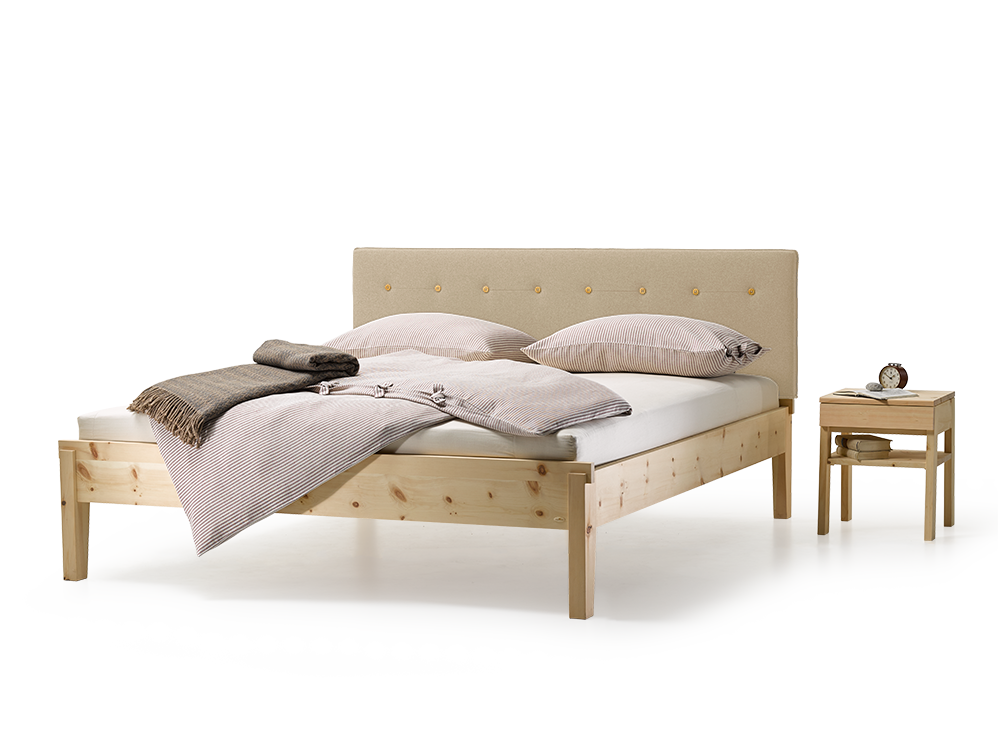 bett alpina mit polsterbetthaupt gr ne erde. Black Bedroom Furniture Sets. Home Design Ideas
