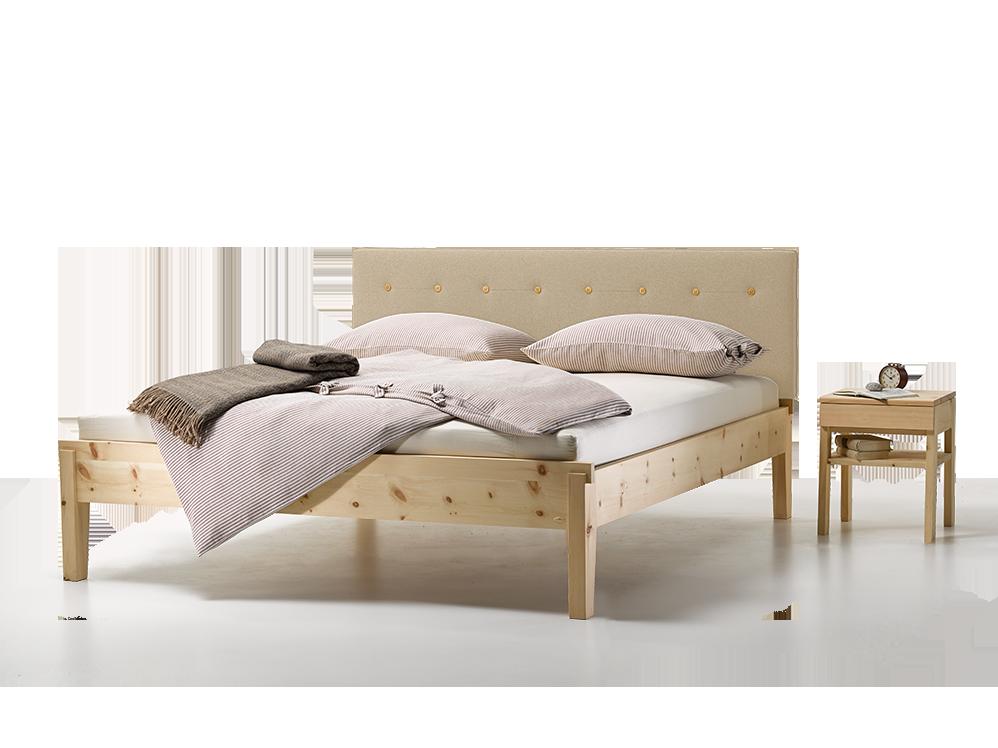 bett alpina mit polsterbetthaupt gr ne erde. Black Bedroom Furniture Sets. Home Design Ideas