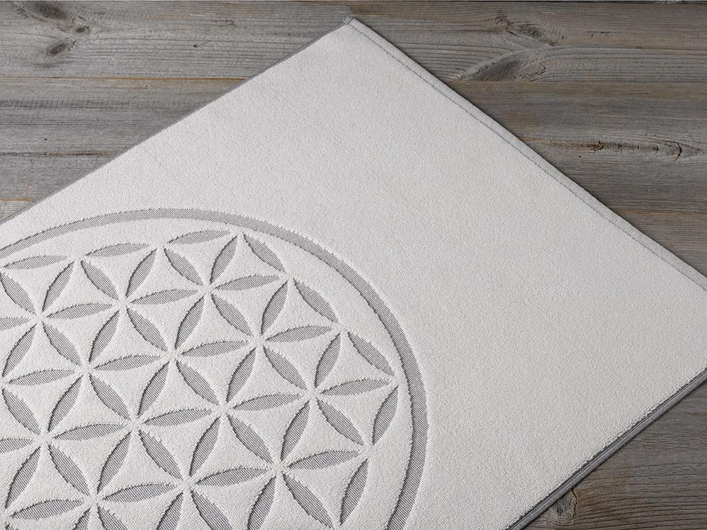 badematte blume des lebens 09 graphit 50 x 80 cm 100. Black Bedroom Furniture Sets. Home Design Ideas