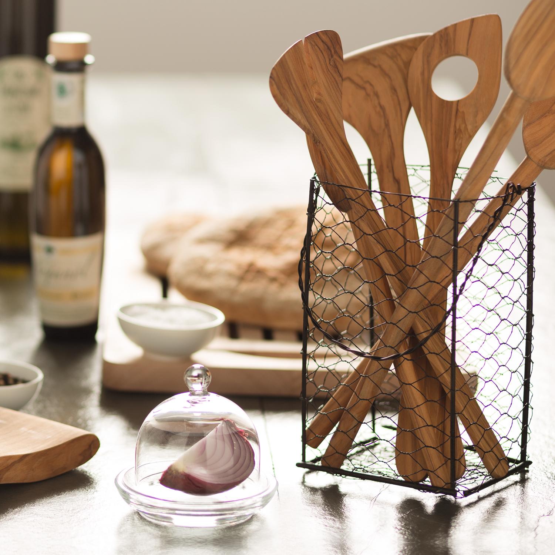 Esstisch Olivenholz set kochlöffel aus olivenholz je 1 stk 25 cm 30 cm 35 cm