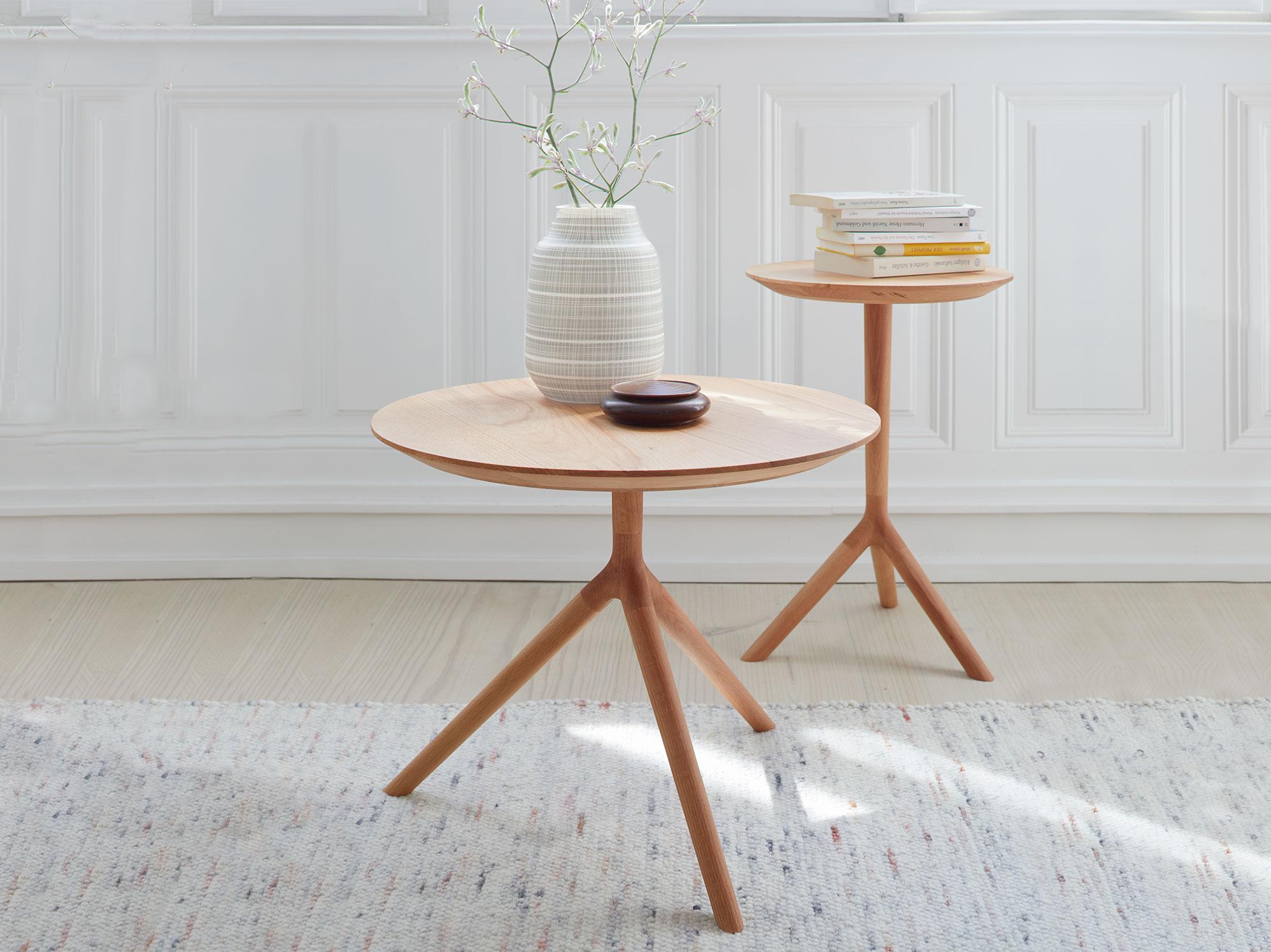 beistelltisch buche rund icnib. Black Bedroom Furniture Sets. Home Design Ideas
