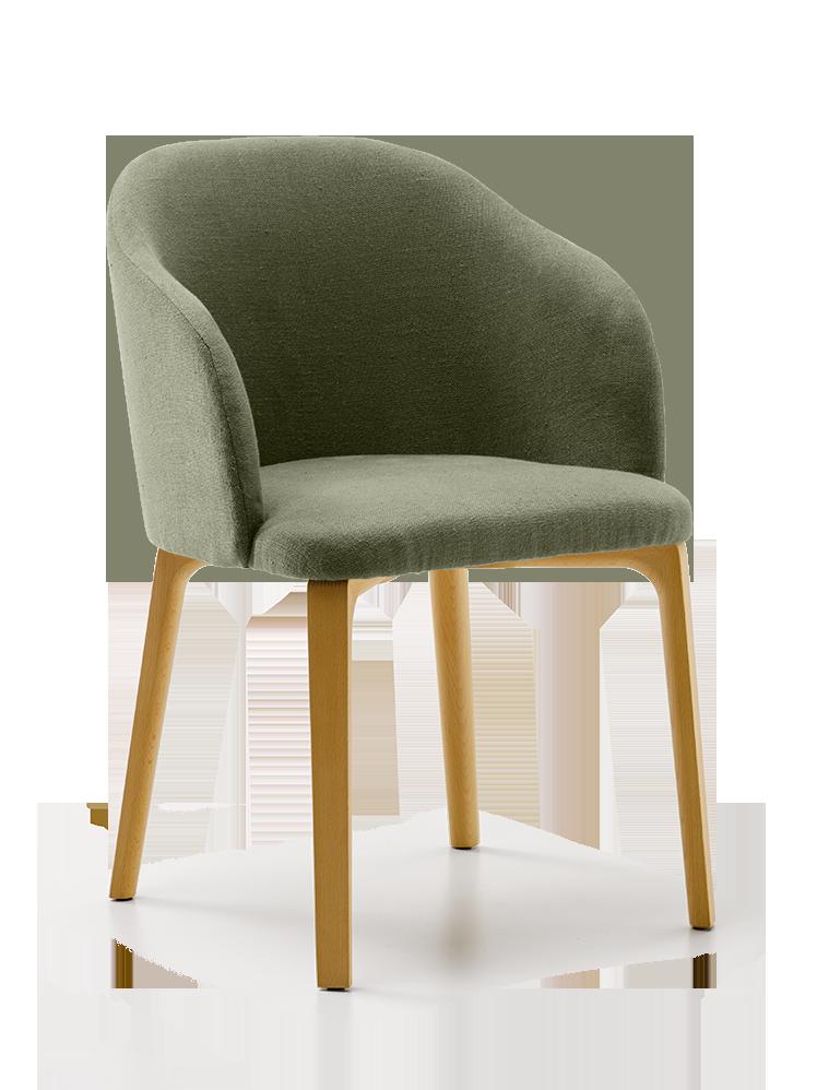 Stuhl belmont mit armlehne gr ne erde for Stuhl armlehne