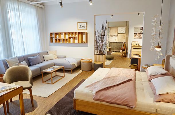 gr ne erde shops der spezialist f r kologisches wohnen schlafen leben gr ne erde. Black Bedroom Furniture Sets. Home Design Ideas