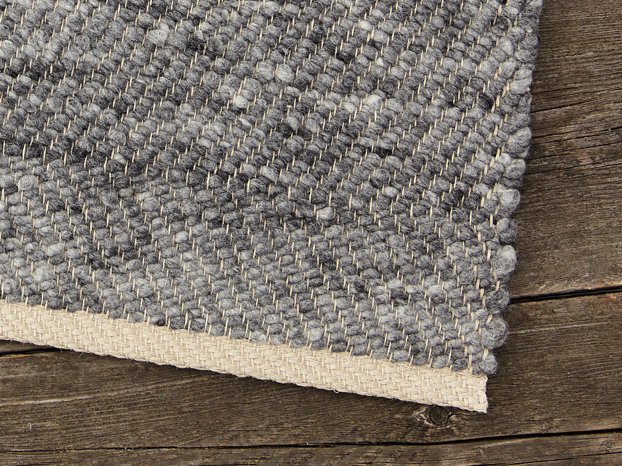 SchafschurwollTeppich PASCOLO, Grau, 200×300 cm, 90%