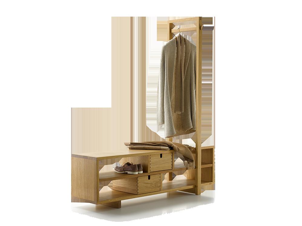 garderobe valetto gro mit b gel 2 laden eiche b 1530 x. Black Bedroom Furniture Sets. Home Design Ideas