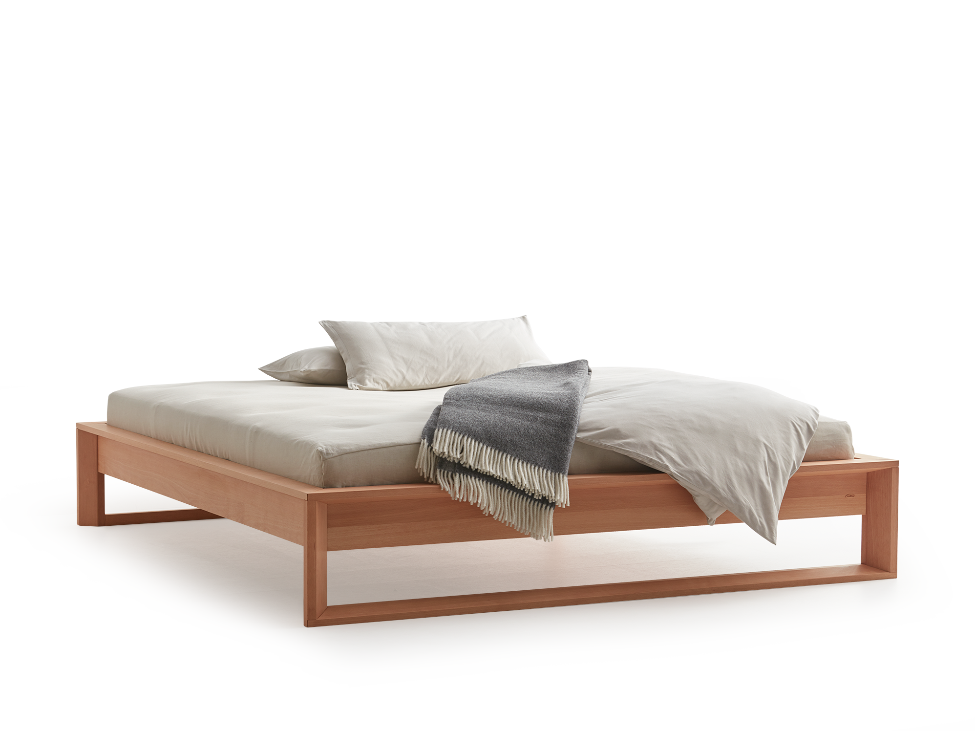 Asanoha Bett ohne Betthaupt | Grüne Erde