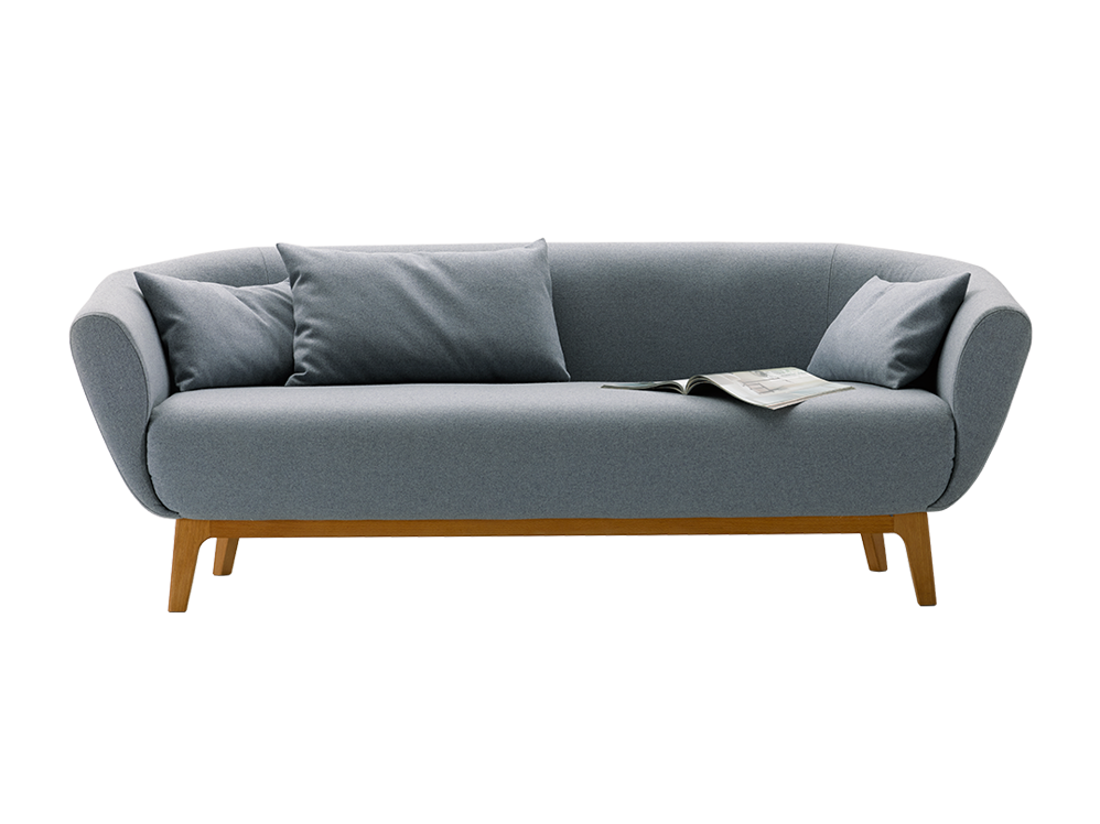 sofa livia b 194 x t 98 x h 72 cm sitzh he 43 cm sitztiefe 70 cm bezug wollstoff tartini. Black Bedroom Furniture Sets. Home Design Ideas
