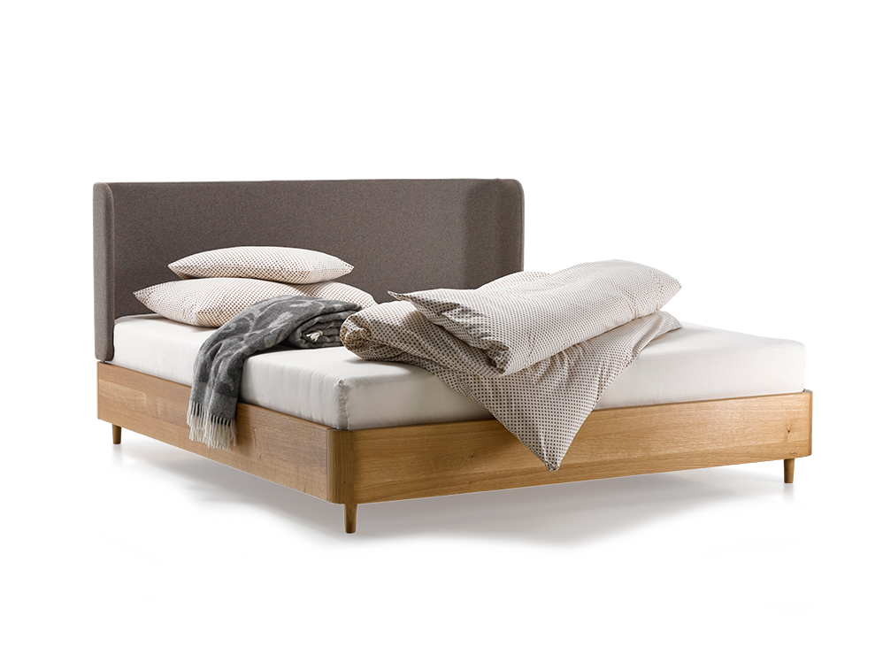 bett tonda mit polsterbetthaupt gr ne erde. Black Bedroom Furniture Sets. Home Design Ideas