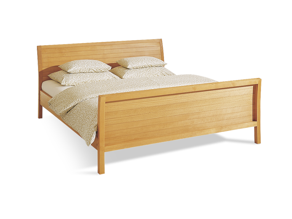 la barca bett mit hohem kopf und fu teil ohne lattenrost 180 x 200 cm buche gr ne erde. Black Bedroom Furniture Sets. Home Design Ideas