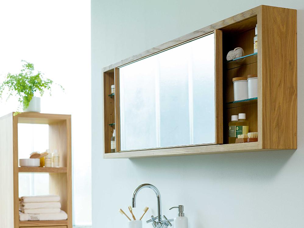 Simply oak spiegelschrank eiche gr ne erde for Badezimmer spiegelschranke