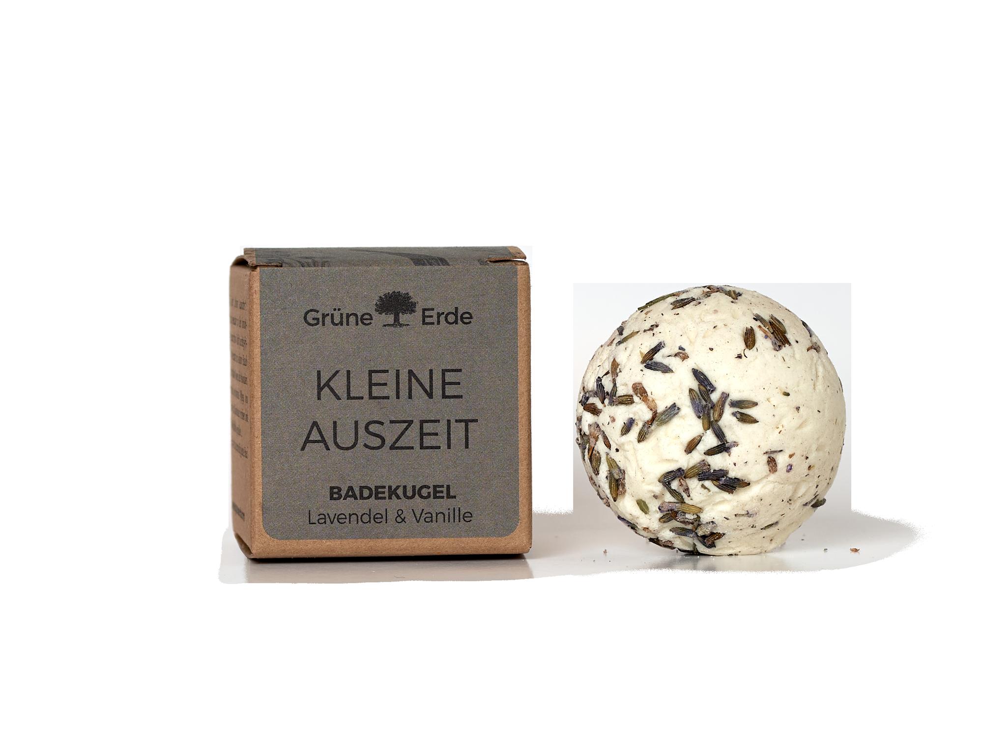 kleine auszeit badekugel lavendel vanille 50 g gr ne erde. Black Bedroom Furniture Sets. Home Design Ideas