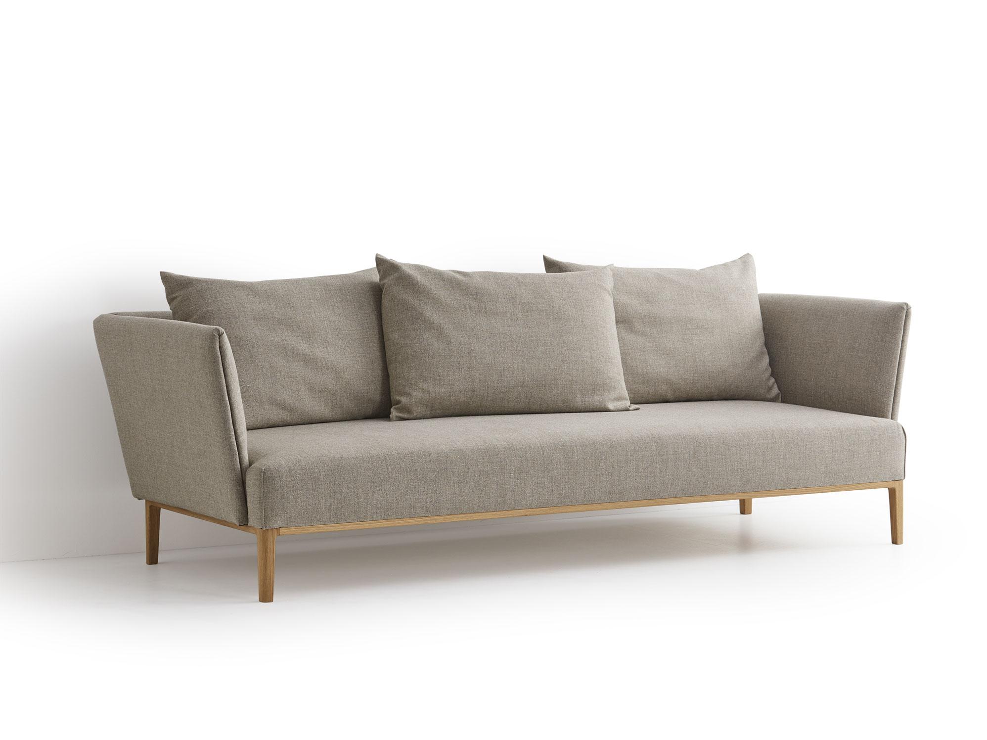 lorea 3er sofa gr ne erde. Black Bedroom Furniture Sets. Home Design Ideas