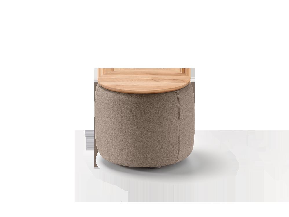 tambor sofatisch hocker mit stauraum u holzdeckel gr ne erde. Black Bedroom Furniture Sets. Home Design Ideas