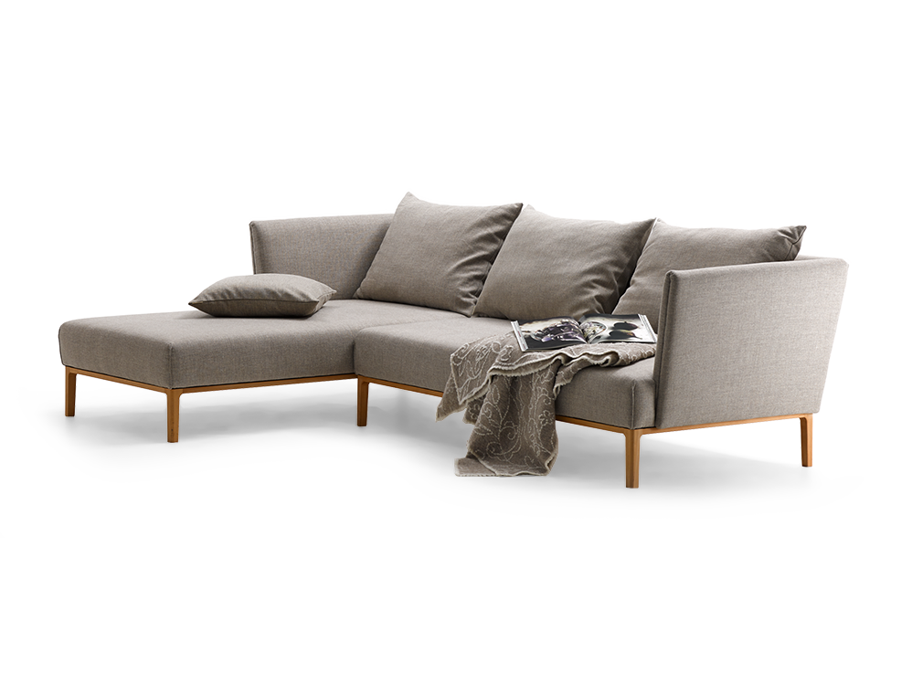 Lorea Lounge-Sofa, Breite 265 cm | Grüne Erde