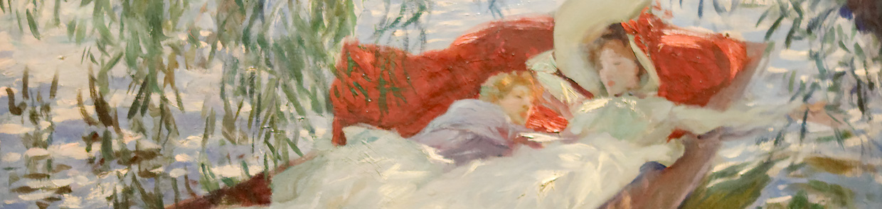 Schlaf in der Moderne – John S. Sargent: Lady and Child asleep in a Punt under the Willows