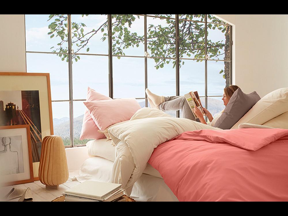 basic satin aus baumwolle decken berzug gr ne erde. Black Bedroom Furniture Sets. Home Design Ideas