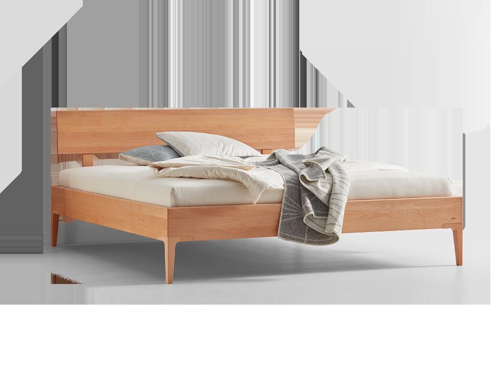 Amazing Bett Altro, Mit Flügelbetthaupt, Fuß Set Vierkantig/konisch, Buche ...