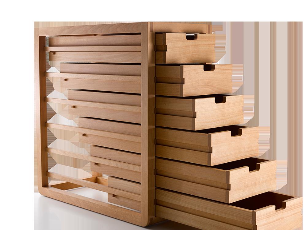 ladenschrank quint mit 6 laden gr ne erde. Black Bedroom Furniture Sets. Home Design Ideas