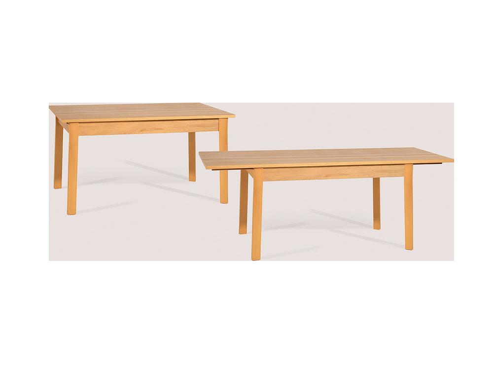 Tisch Achteckig Buche ~ Stefano, Ausziehbarer Tisch, 140x84200x84 x 76 cm, Buche, Plattenfixierung n