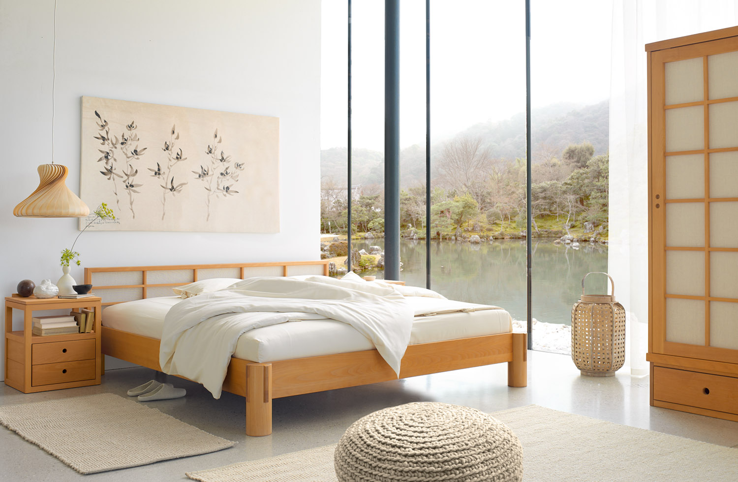 bett ryokan gr ne erde. Black Bedroom Furniture Sets. Home Design Ideas