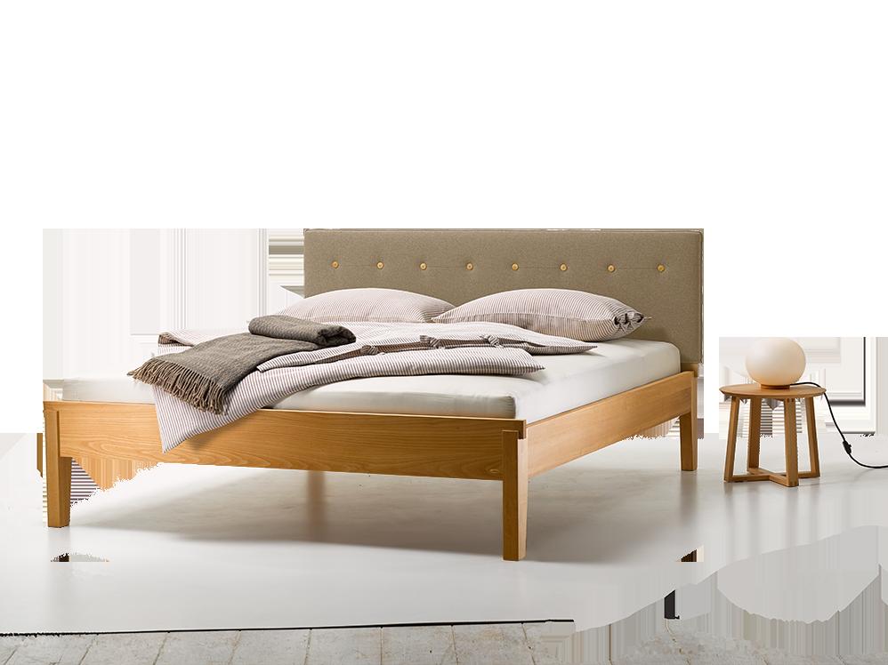 bett alpina mit polsterbetthaupt wollstoff tanaro breite 180 cm x l nge 200 cm buche gr ne erde. Black Bedroom Furniture Sets. Home Design Ideas