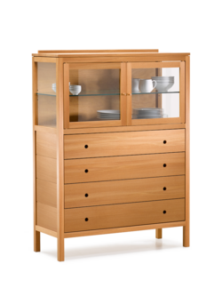 Ettore Highboard Kernbuche