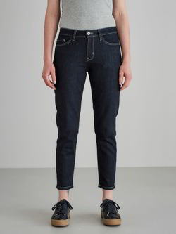 Jeans-7/8 Länge, dark denim