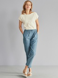 Hose-Joggpants-Chambray, denim chambray