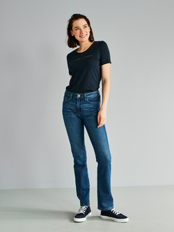 Jeans-straight leg, mittelblau denim