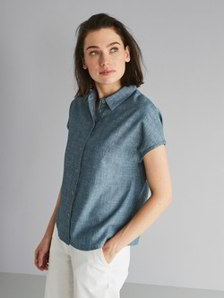 Bluse-chambray, denim chambray