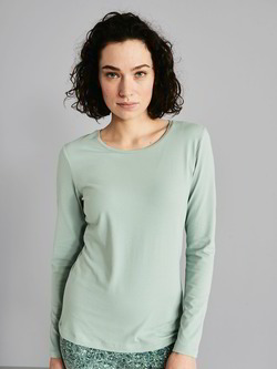 Shirt-langarm, light aqua