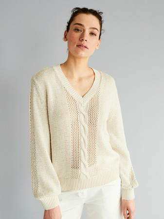 Pullover-Langarm, off white