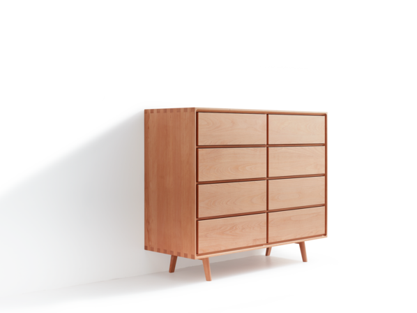 Highboard Tesoro mit 8 Laden,  Buche