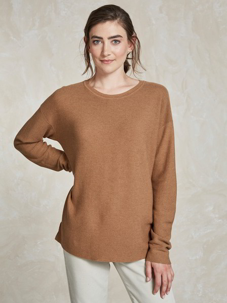 Pullover-Loose Fit, cognac
