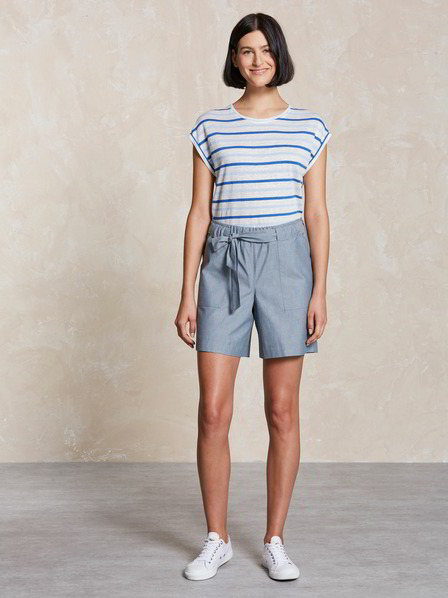Shorts, oxford blau