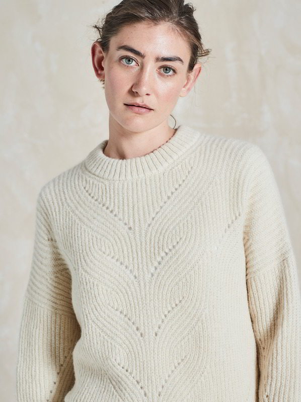 Strickpullover, offwhite