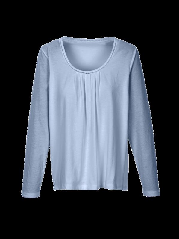 01a387e519b8b3 Schlafshirt-Langarm, 32 graublau, L, GOTS