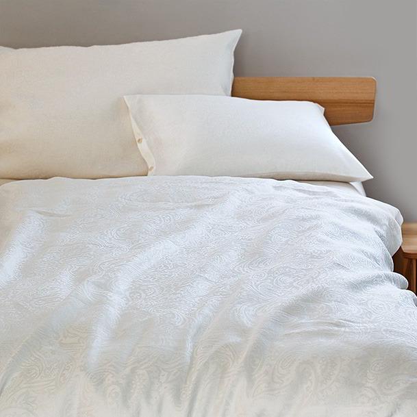 Bio Bettwasche Aus Baumwolle Halbleinen Und Flanell Grune Erde