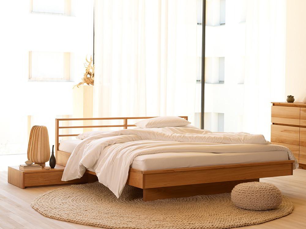 bett kumo mit sprossenbetthaupt gr ne erde. Black Bedroom Furniture Sets. Home Design Ideas