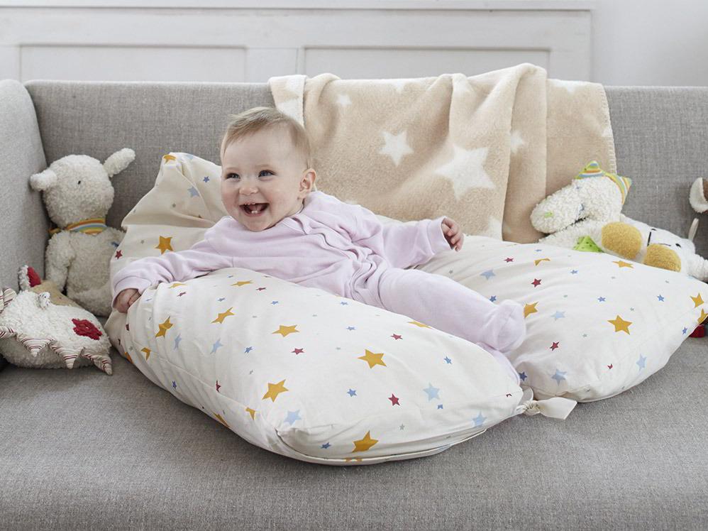 set kissen f r mutter baby berzug sternenhimmel gr ne erde. Black Bedroom Furniture Sets. Home Design Ideas