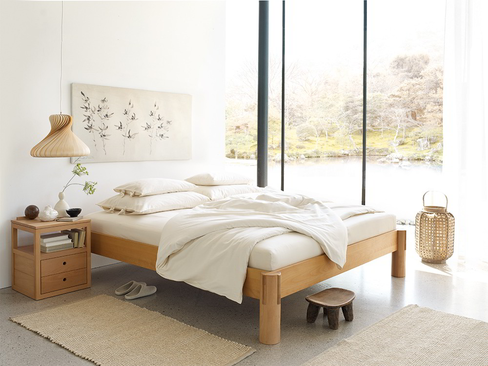 ryokan bett ohne betthaupt gr ne erde. Black Bedroom Furniture Sets. Home Design Ideas