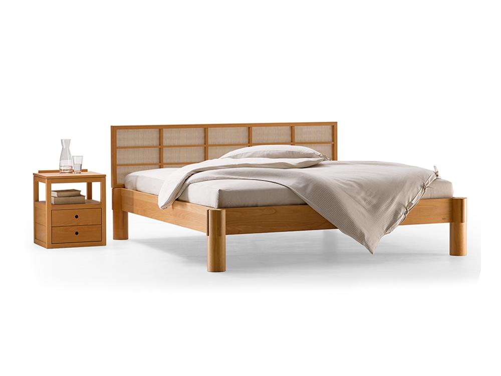 ryokan bett mit betthaupt gr ne erde. Black Bedroom Furniture Sets. Home Design Ideas